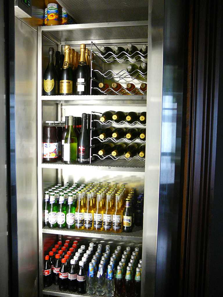 Stainless Beverages Cabinet